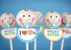 Happy baby cake pops