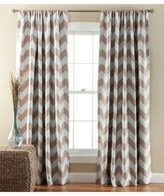 Taupe Chevron Blackout Curtain Panel - Set of Two- $39.99 on zulily