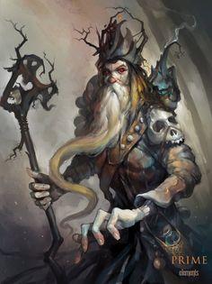 """Necromancer"" by Igor Artyomenko (haryarti) | Prime Elements | #Fantasy #Wizard #Magic"