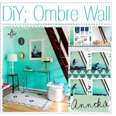 DIY: Ombre Wall - Master with gray tones Diy Ombre, Diy Interior, New Room, Decoration, Girl Room, Home Projects, House Design, Wall, Room Ideas