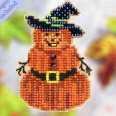 Pumpkin Jack Halloween Beaded Kit Mill Hill 2004 Autumn Harvest
