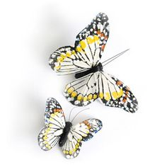 Image of Monarch Butterfly Clips - Ivory