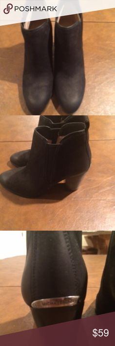 ichael Kors black suede ankle boots Michael Kors black suede ankle boots size 7 NEW. Michael Kors Shoes Ankle Boots & Booties