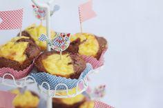 double chocolate cheesecake muffins