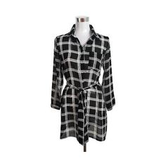 Casual Plaid Print Long Sleeve Belted Shirt Dress for Women ($9.99) ❤ liked on Polyvore featuring dresses, long shirt dress, tartan dress, plaid shirt dress, long plaid shirt dress and tartan shirt dress