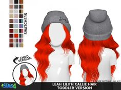Leah Lillith Callie Hair Toddler by coupurelectrique - The Sims 4 Download - SimsDom