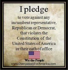 .I pledge.....in order to continue to be a blessed nation, we need Godly leadership.