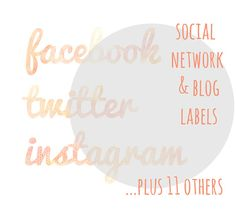 14 watercolour Social Media and Blog Buttons by alltheadorables, $5.00