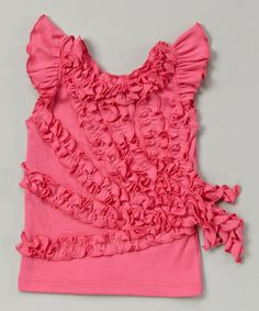 Love this Carmine Rose Pageant Ruffle Tank - Girls on #zulily! #zulilyfinds