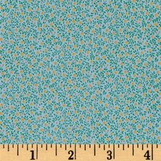Kaufman Sevenberry Petite Fleurs Tiny Flower Blue from @fabricdotcom  From Kaufman Fabrics, this lightweight cotton shirting fabric is very similar to a quilting cotton. This fabric is great for button down shirts and dresses. It can also be used for quilting projects. Colors include blue, green, yellow, and orange.