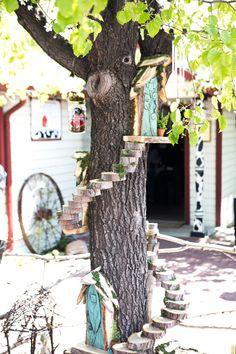 Woodland Fairies at Gardner Village Diy Fairy Door, Fairy Doors On Trees, Fairy Tree Houses, Fairy Garden Houses, Gnome Garden, Gnome Village, Fairy Village, Woodland Fairy, Woodland Hills
