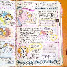 お食事中の方の妨げになる箇所をぼかしてあります。  #ほぼ日手帳 #hobonichi #planner  #diary #journal #いぬにっき #イヌにち