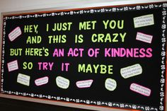 Kindness Bulletin Board  Haha