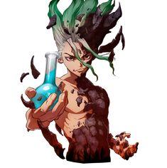 Anime Guys, Manga Anime, Anime Art, Stone Drawing, Stone World, Anime Warrior, Anime Stickers, Angel Of Death, Drawing Reference