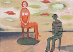 Andrzej Wróblewski - Małżeństwo II. Contemporary Paintings, Polish, Couple, Illustrations, Artists, Art, Enamel, Manicure, Couples