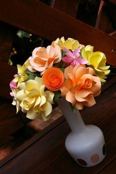 Paper Flower Bouquet by MyArteasure on Etsy, $50.00