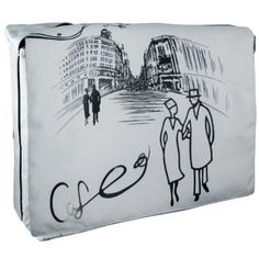 Café in Paris Silver Gray 15.4 inch Laptop Padded Compartment Shoulder Messenger Bag for K-Cliffs Lifestyle MyGift http://www.amazon.com/dp/B004AH28UO/ref=cm_sw_r_pi_dp_iet6ub1VRJN15