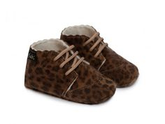 baby leopard wool boots