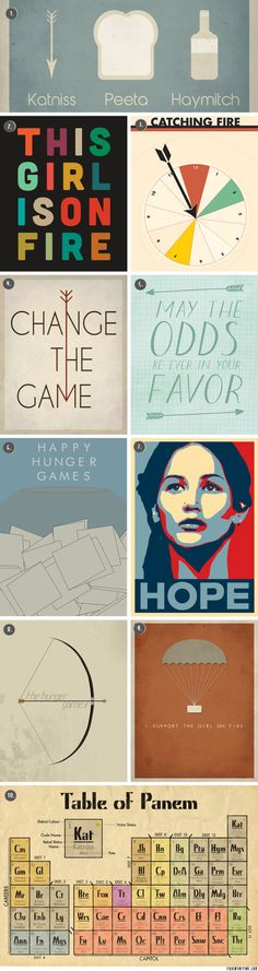 Hunger Games and Catching Fire posters   //   FOXINTHEPINE.COM