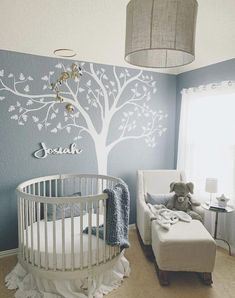 The 17 best round crib nursery inspirations for a baby boy or girl. Plus, where to get the best round cribs and round crib bedding sets and sheets.