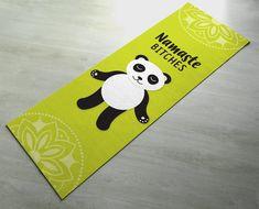 Panda Namaste Bitches Yoga Mat - Cute Panda Yoga Mat - Practice Yoga In  Style  Gift Idea   Fun Present  Exercise Mat 856137bbaee2d