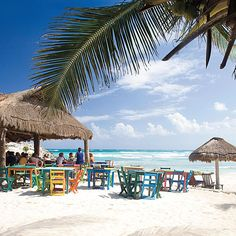 Dining on the beach in Tulum, Mexico  www.myvacationlady.com