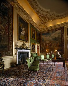 blenheim palace bed rooms | antique interiors