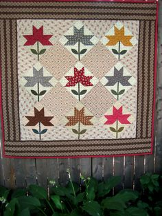 Peony Star quilt from Remembering Adelia book by Kathleen Tracy