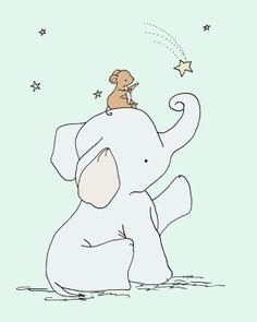 Elephant Nursery Art Catch a Falling Star by SweetMelodyDesigns, $10.00