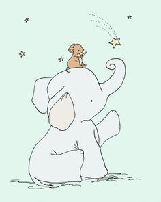 Elephant Nursery Art  Catch a Falling Star by SweetMelodyDesigns, $10.00