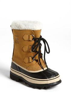 SOREL 'Caribou' Waterproof Boot (Little Kid & Big Kid) Awww so cute on my two boys!