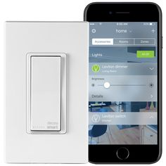 Leviton Decora Smart 15 Amp Light Switch Works with Apple HomeKit Wallplate Included, - The Home Depot Electronic Paper, Timer App, Switch Words, Apple Homekit, Dim Lighting, Works With Alexa, Kit Homes, Houses, Tecnologia