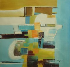 "ebay: art-ny-art -- Abstract Oil Painting Contemporary Style Great Decor Nice Wall Art 30x30"" Canvas #Impressionism"