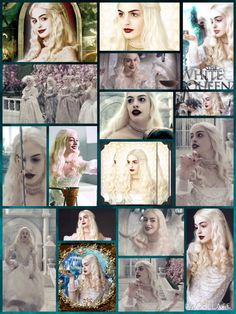 The White queen Alice in Wonderland