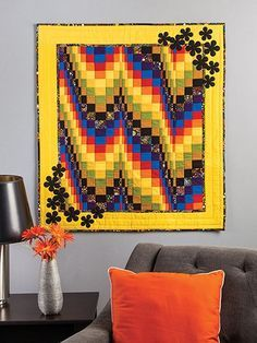 Craftdrawer Crafts: Bargello Quilts An Overview and 8 Easy Bargello Quilt Patterns Bargello Quilt Patterns, Bargello Quilts, Needlepoint Patterns, Scrappy Quilts, Quilt Patterns Free, Mini Quilts, Cute Quilts, Small Quilts, Homemade Quilts