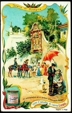 "Spanish Scenes - Malaga  Liebig Beef Extract ""Scenes of Life in Spain"" Italian issue, 1905"