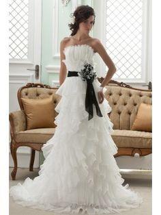 Amazing Empire Strapless Sashes Sleeveless Court Wedding Dress