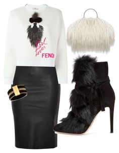 """""""Untitled #166"""" by candyappleblue on Polyvore featuring Relaxfeel, Fendi, Gianvito Rossi and GUESS"""