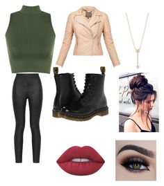 """""""Cool"""" by daria-cat on Polyvore featuring WearAll, MuuBaa, Armani Jeans, Dr. Martens, EF Collection and Lime Crime"""