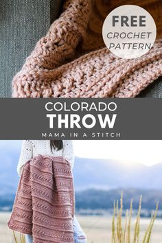 Crochet Crafts, Crochet Yarn, Crochet Projects, Free Crochet, Crochet Hooks, Crotchet, Crochet Ideas, Fun Projects, Modern Crochet Blanket