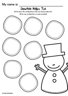 Snowman Makes Ten FREEBIE