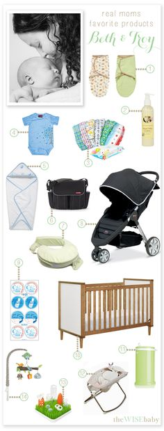 A fabulous list of great favorite baby products today on Real Mom Wednesday from new mama, Beth!   We are always in need of more real mom volunteers - email us for details! lindsey@thewisebaby.com