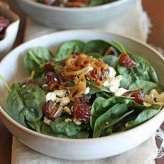 Spinach Salad HealthyAperture.com