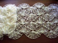 Crochê Tricô - Gráficos: Cachecol ou Echarpe em Crochê de Grampo