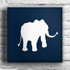 Stick elephant stencil on canvas and paint around it. Different animals, different colors/shades. For tables.  Also, good craft for kids? On dollar tree canvases?