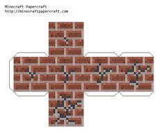 Papercraft Breaking Brick Minecraft Box, Minecraft Templates, Minecraft Tutorial, Minecraft Creations, Minecraft Crafts, Minecraft Party, Cube Template, Imprimibles Toy Story Gratis, Brick Crafts