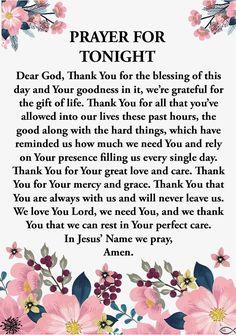 Good Night Prayer Quotes, Prayer For Love, Prayer Of Thanks, Prayer For Today, Nighttime Prayer, Sleep Prayer, Beautiful Morning Quotes, Evening Prayer, Jesus Prayer