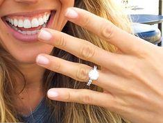Breathtaking Celebrity Engagement Rings Radiant Engagement Rings, Best Engagement Rings, Celebrity Wedding Rings, Engagement Celebration, Heart Shaped Diamond, Cushion Cut Diamonds, Types Of Rings, Round Cut Diamond, Diamond Bands