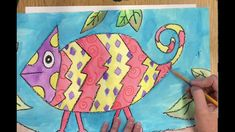 Snowman From a Worm's Perspective: First Grade Crayon Resist Art Project