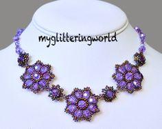 Beaded flower Pattern Beading Pattern jewelry by myglitteringworld, $6.00